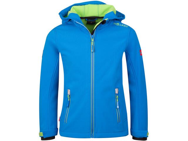 TROLLKIDS Trollfjord Jacket Kids medium blue/green